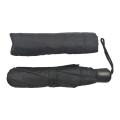 kundenspezifischer Drucklogo 3 faltender schwarzer Regenschirm der billigen Falte