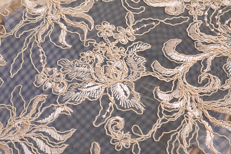 Wedding Dress Embroidery Fabric