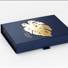 Navy Blue A6 Shallow Gift Folding Boxes