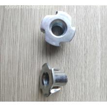 ZP Carbon Steel M8 T-nuts-4P