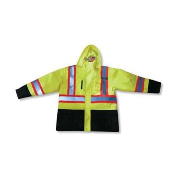 Polyester Waterproof Lime Rain Jacket