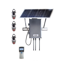 Communication terminal for overhead line fault indicator