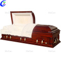 Funeral home storage the corpse wood coffin