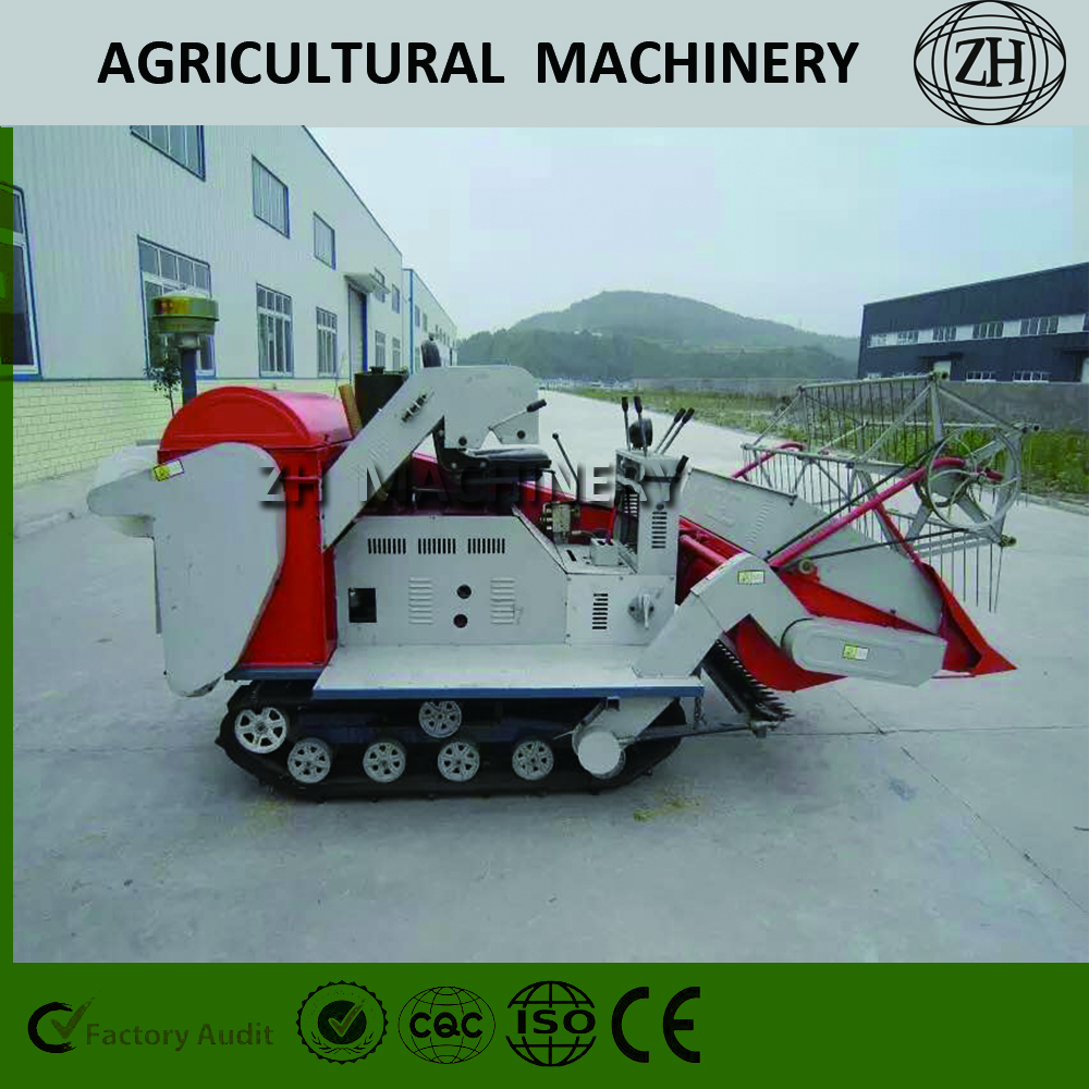 Brand New 1.0kg / s Mini Rice Combine Harvester