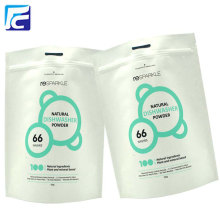 White kraft paper foil zipper whey protein bag