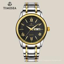 Relógio de quartzo clássico masculino com faixa de aço inoxidável 72045