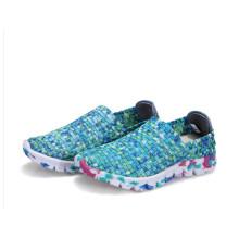 Fluoreszierendes Grün: Handgewebte Schuhe
