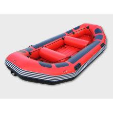 Aufblasbares Fluss-Rafting-Boot China, Freizeitboot mit auffälliger roter Farbe (SH)