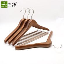 Wholesale antique beech wood closet clothes hangers