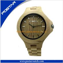 Reloj de madera al por mayor de madera de la muñeca de la moda del reloj de madera al por mayor con el logotipo modificado para requisitos particulares