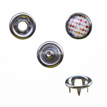 Attracted Round Prong Fastener with Pattern Cap