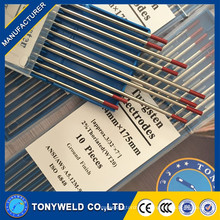 1,6 * 175mm Pure 2% thoriated TIG Soldadura Electrodos de Tungsteno / Varillas
