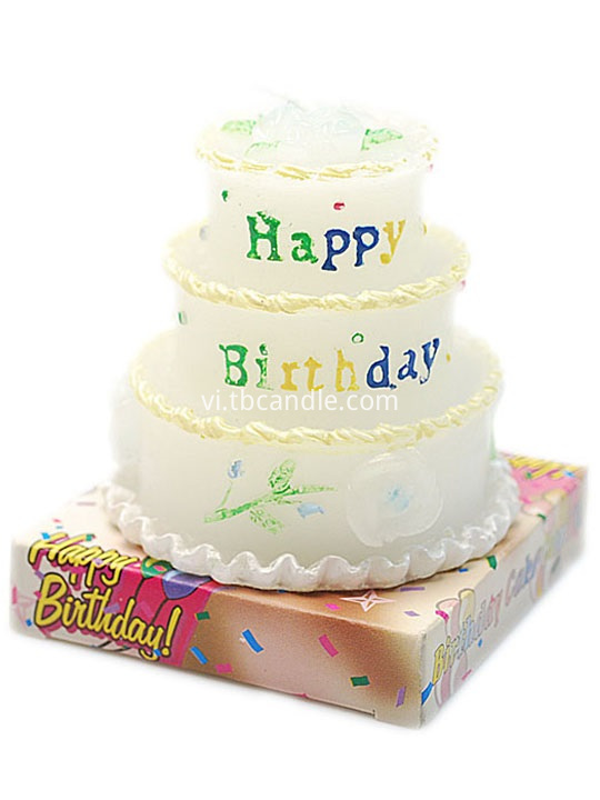multi-layer birthday cake candle