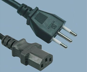 Italian Computer IMQ male type to IEC c 13 Power Cord