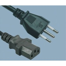 Italian Computer IMQ Male Type To IEC C13 Power Cord