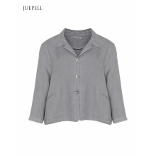 Cropped Linen Blazer Suit Women Jacket