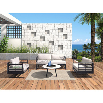 Aluminium PE Rattan & Wicker Outdoor-Sofa-Set