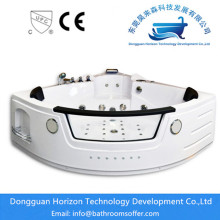 OEM for Acrylic Sector Bath Tub Hydraulic massage system corner tub export to Germany Exporter