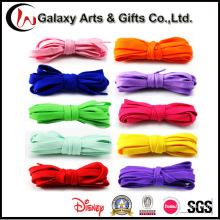 Laço de sapato liso colorido por atacado para calçados esportivos