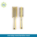 professional soft plastic hair brush set with golden decoration
