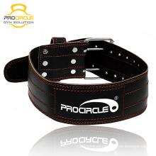 Cinturón de levantamiento de pesas de cuero pesado gimnasio personalizado