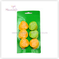 PP Plastic Lemon Clothes Pegs Set of 6 (3.7*3.7cm)