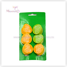 Pegs de roupas de plástico PP limão conjunto de 6 (3.7 * 3.7 cm)