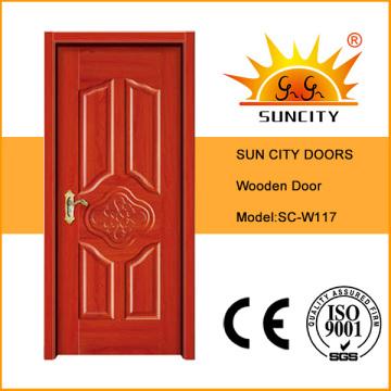 Современный дизайн интерьера дома деревянная Одиночная дверь (СК-W117)