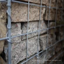 Cage en pierre de Gabion soudée, fournisseur de Gabion de cage en pierre