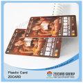 Cartão plástico da identificação do PVC / cartão transparente