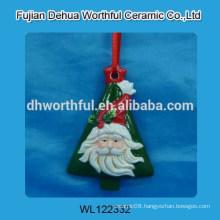 Ceramic hanging decoration with tree design