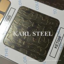Alta Qualidade 410 Aço Inoxidável Cor Ket008 Folha Etched