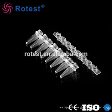 Chemical lab supplies 0.2ml 8-strip pcr tubes