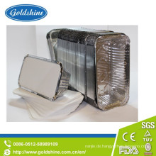 Lebensmittelqualität Aluminiumfolie Container Board Deckel