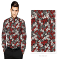 Tecido de camisa de algodão impresso digital personalizado 100% algodão