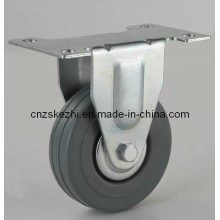 Light Duty Series Fixed Type Grey Rubber Caster (KGxx1)