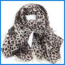 Fashion lady printing leopard scarf wool