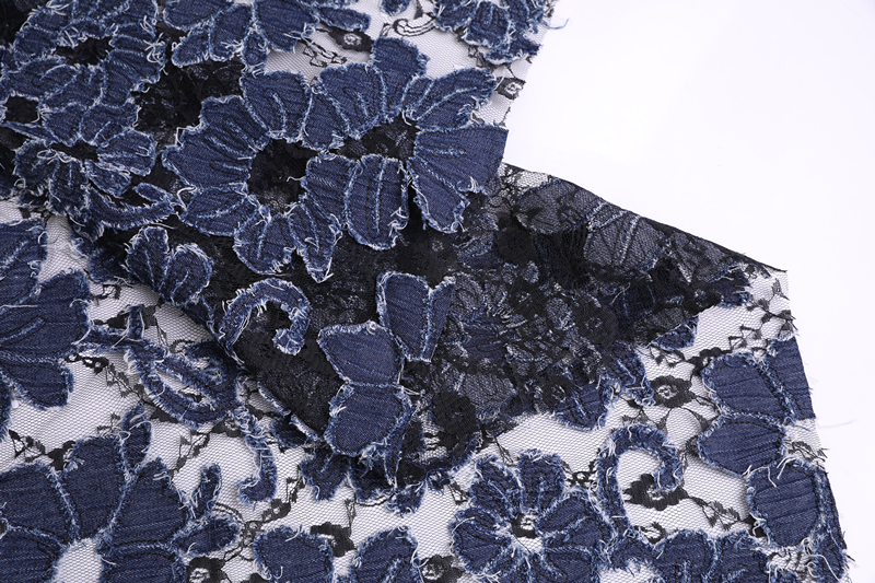 3D Denim Embroidery Fabric
