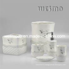Porcelain Bathroom Accessories Set (WBC0504A)