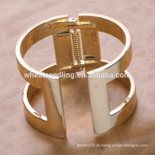 Moda jóias fornecedor Yiwu punk dourado religião crença bracelete de fio de fio árabe