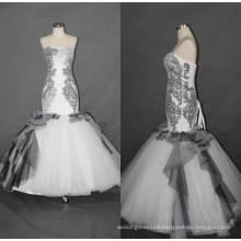 Black Mermaid Evening Gown Wedding Dresses F5086