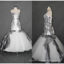 Vestidos de casamento de vestido de noite de sereia preto F5086