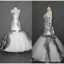 Черный Русалка Вечернее Платье Свадебные Платья F5086