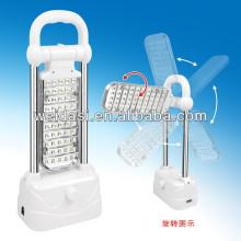 Lampe rechargeable de secours de la puissance élevée LED en plastique, projecteur tenu dans la main