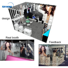 Detian Offer 4x5m jewelry aluminum profiles rack exhibition booths