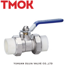 Brass nickle plated PPR active joint ball valve