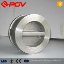 válvula de retención de acero inoxidable de la oblea