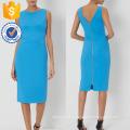 New Fashion Blue Sleeveless V Neck Pencil Corset Dress Manufacture Wholesale Fashion Women Apparel (TA5210D)