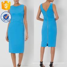 Nueva moda azul sin mangas con cuello en V lápiz corsé vestido fabricación venta al por mayor moda mujer ropa (TA5210D)
