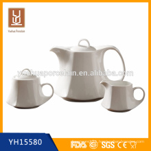 1200ml porcelain tea pot set with milk jar and sugar pot for sale